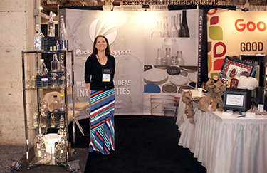That's me at our booth at Coffee Fest.